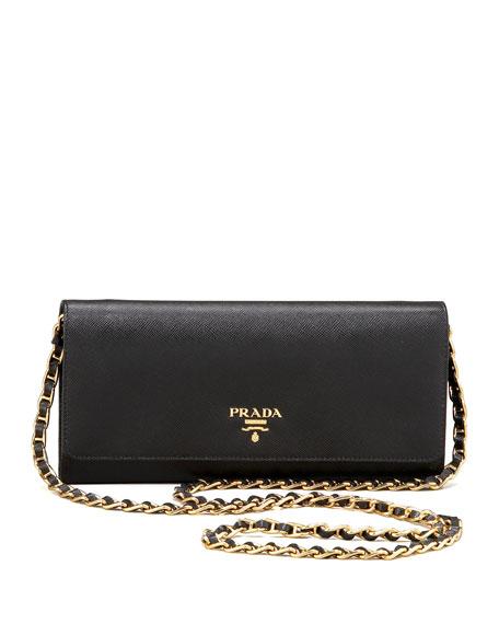 1727f3593154 ... shopping prada saffiano chain crossbody wallet e50cb 8853d