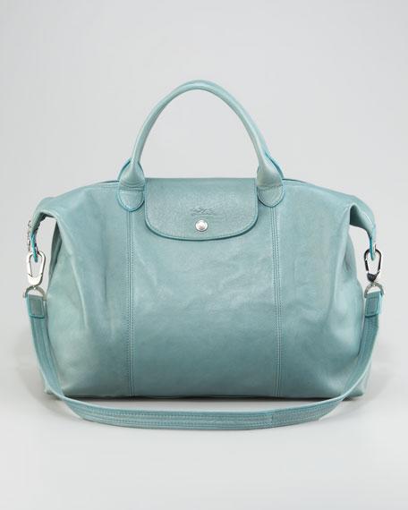 Longchamp Le Pliage Cuir Large Tote Bag w  Shoulder Strap 9164425a324ec