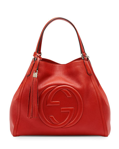 c6897654ddf9 Gucci Soho Leather Shoulder Bag