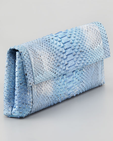 Python Back-Pocket Clutch Bag, Blue