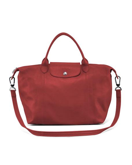 d67bc89aaa0a Longchamp Le Pliage Cuir Handbag with Strap