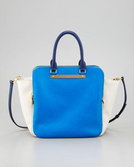 Goodbye Columbus Bentley Colorblock Tote Bag Blue