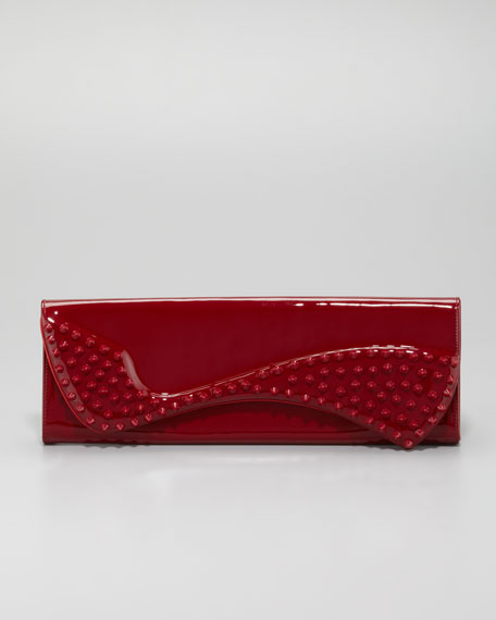145a44fbf01 Pigalle Spikes Patent Clutch Bag Red