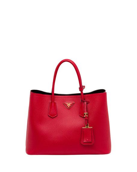 421a2a7526ba ... official prada saffiano cuir double bag red fuoco 4b76a d1e6a ...