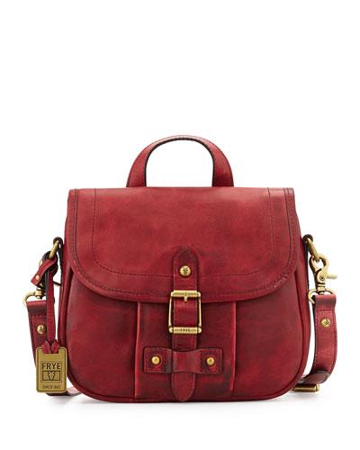 Parker Leather Crossbody Bag, Burgundy