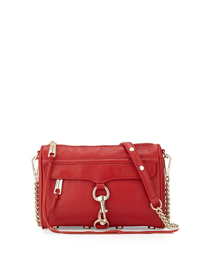 Mini MAC Crossbody Bag, Crimson