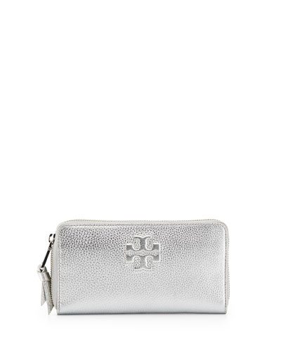 Thea Continental Zip Wallet, Silver