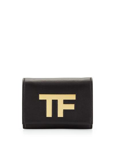 TF Small Flap Crossbody Bag, Black