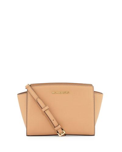 Selma Medium Messenger Bag, Suntan