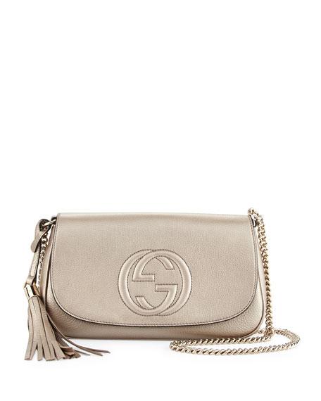 4385f1005ab7 Gucci Soho Metallic Crossbody Bag, Gold