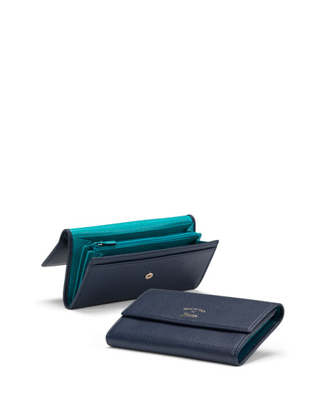 dbfe58f5e315 Gucci Swing Leather Continental Wallet, Blue/Light Blue