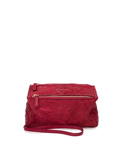 Pandora Mini Leather Satchel Bag, Cherry