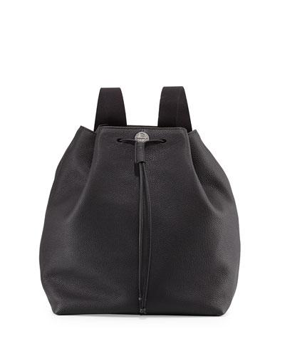Backpack 10 Leather Hobo Bag, Black
