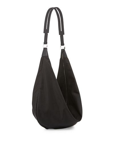 Sling 15 Nylon Hobo Bag, Black
