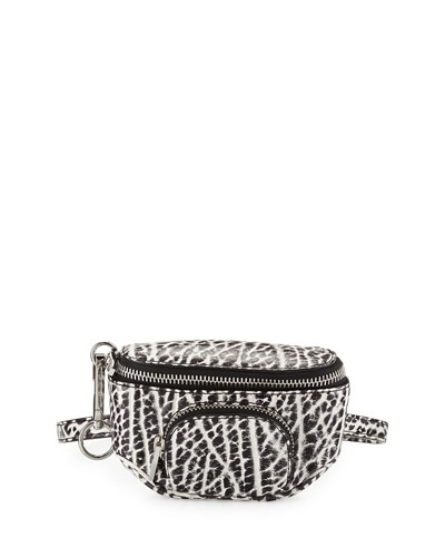 Dumbo Pebbled Fanny Pack, White/Black
