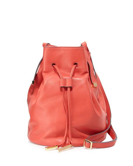 Halston Heritage Leather Bucket Bag 652512e53a890