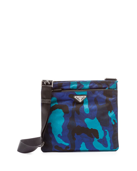 f0560be23a54 Prada Tessuto Camo-Print Crossbody Bag, Royal Blue (Royal)