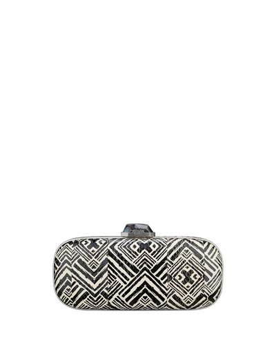 Mary Alice Oval Watersnake Clutch Bag