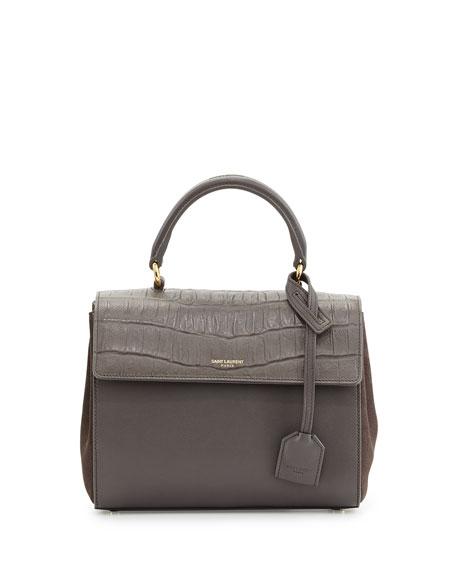 Saint Laurent Moujik Mini Flap Satchel Bag, Earth 89d88aca25