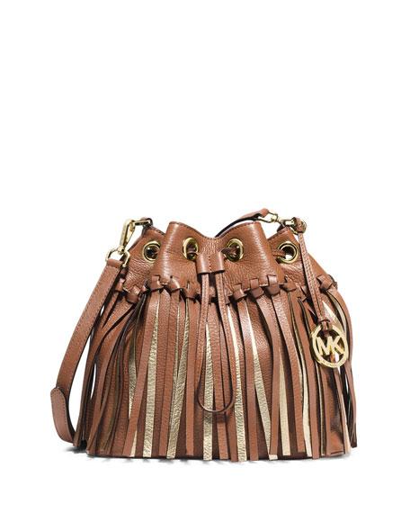 1d41c0f87694 MICHAEL Michael Kors Christy Medium Drawstring Messenger Bag, Luggage/Gold