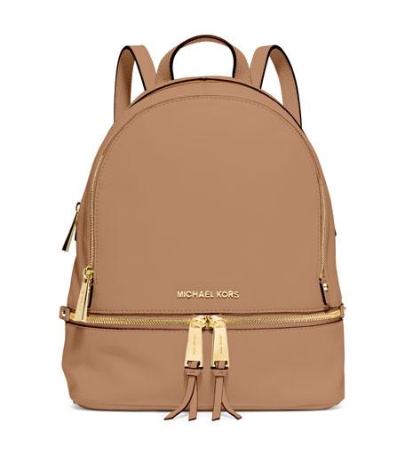 3f47219cb09a MICHAEL Michael Kors Rhea Small Zip Backpack, Peanut