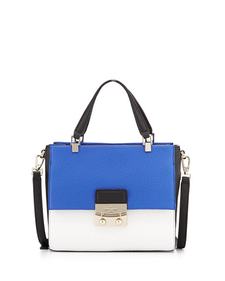 Chelsea Square Bennett Satchel Bag Island White Black