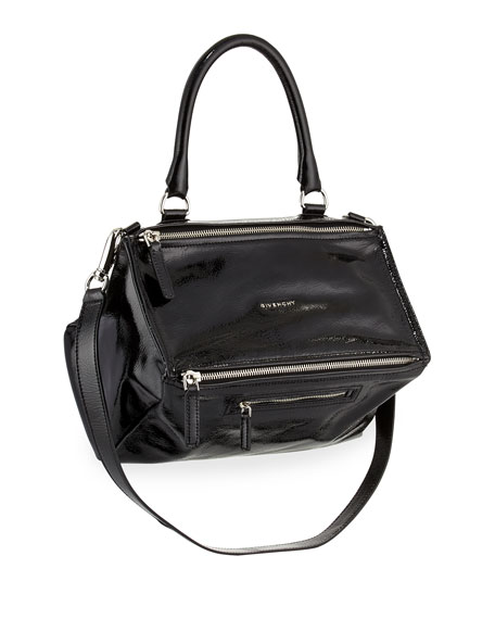 9b6e726fb762 Givenchy Pandora Medium Patent Leather Satchel Bag