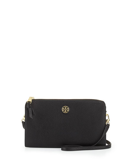 ea35c475dd0 Tory Burch Robinson Pebbled Wallet Crossbody Bag