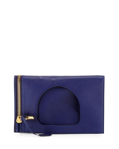628f0cd94 TOM FORD Alix Small Calfskin Hobo Bag, Cobalt Blue