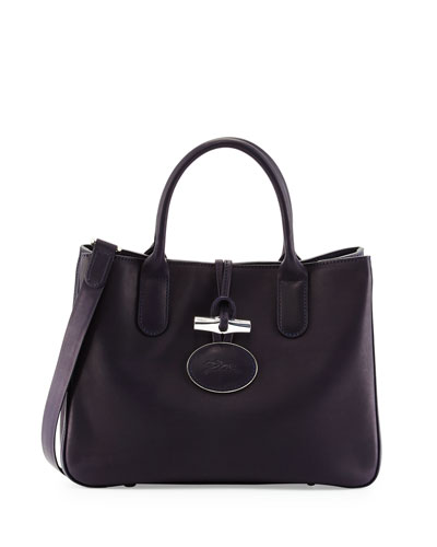 Heritage Tote Bag w/Removable Strap, Navy