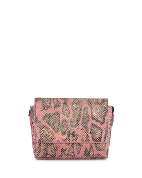 3f52f1387d Halston Snake-Print Leather Wallet Clutch Bag