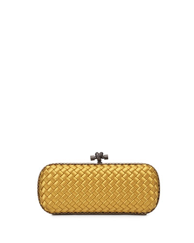 Satin Elongated Knot Clutch Bag, Loteo