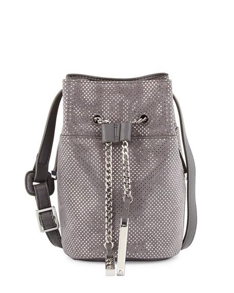 Halston Heritage Metallic Leather Mini Bucket Bag c2d9075917539