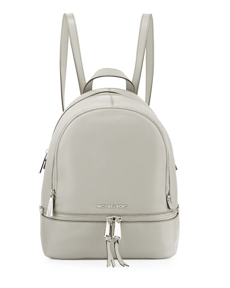6b211314a412 MICHAEL Michael Kors Rhea Small Zip Backpack, Pearl Gray