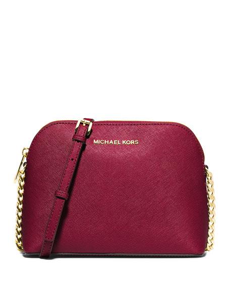 a302e04ae308 MICHAEL Michael Kors Cindy Large Dome Crossbody Bag, Cherry