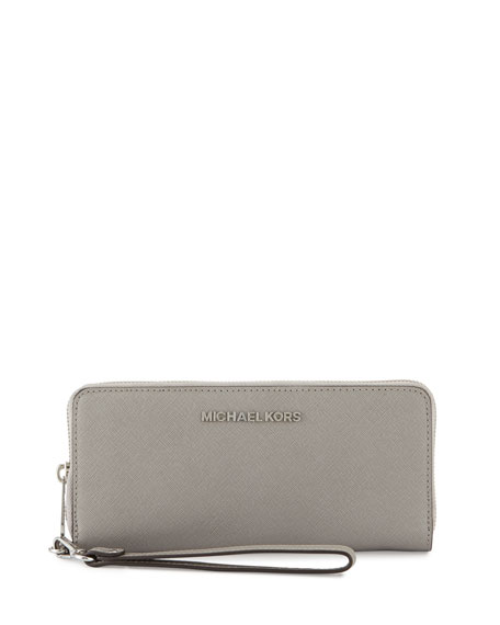 2df8cee8aa5923 MICHAEL Michael Kors Jet Set Travel Continental Wallet, Pearl Gray