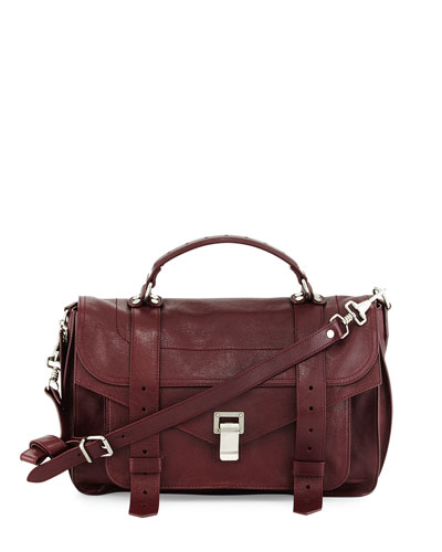 PS1 Medium Satchel Bag, Oxblood