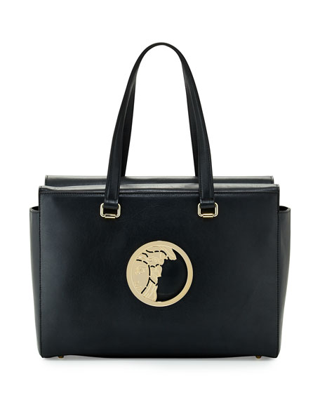 Leather handbag Versace EZsXCzKl32
