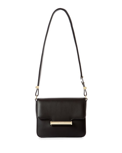 Diane Small Leather Crossbody Bag, Black