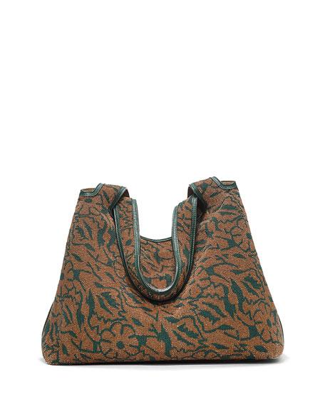 cc177ccce0 THE ROW Duplex Floral Beaded Hobo Bag