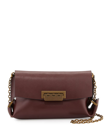 26cd0190aa7d ZAC Zac Posen Eartha Folded-Gusset Leather Crossbody Bag