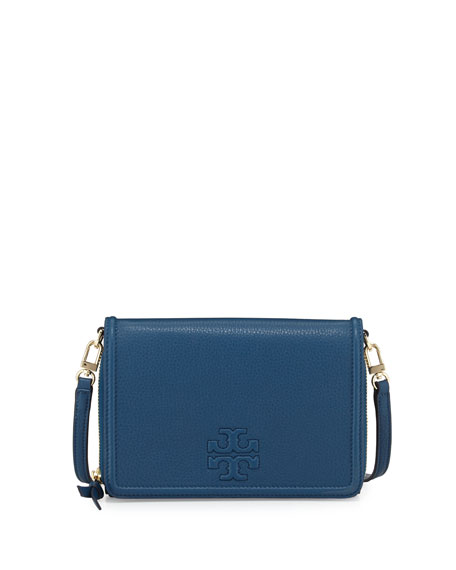 dec08e77634 Tory Burch Thea Leather Wallet Crossbody Bag, Tidal Wave