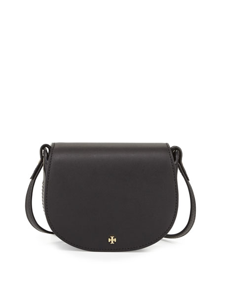 Mini Leather Saddle Bag Black