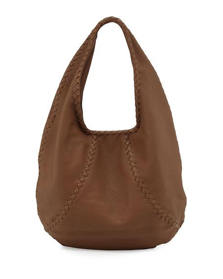 158c472c24 Bottega Veneta Cervo Large Leather Hobo Bag