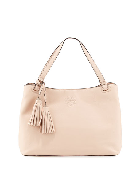 5a286cec933 Tory Burch Thea Center-Zip Tote Bag, Light Pink