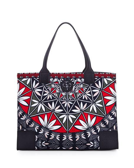 Tory Burch Ella Printed Packable Tote Bag, Pottery Print b06e4007ac