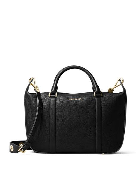 6bf57cbc1e1b MICHAEL Michael Kors Raven Large Leather Satchel Bag, Black