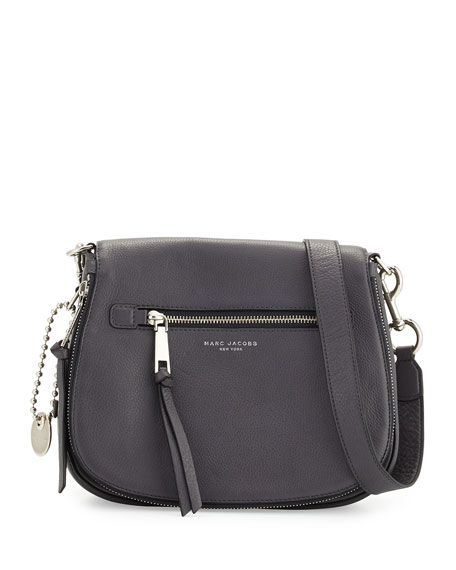 Marc Jacobs Recruit Leather Saddle Bag, Shadow 5688c5bea6