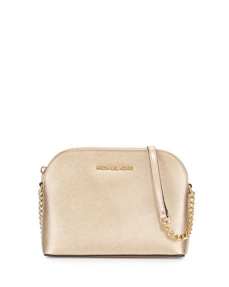 2b4e468e3946 MICHAEL Michael Kors Cindy Large Dome Crossbody Bag, Pale Gold