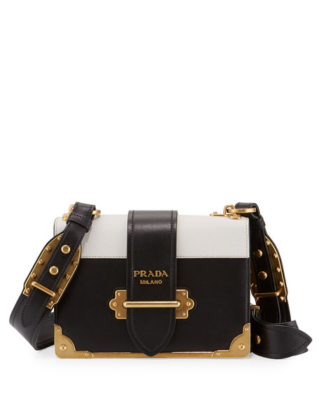 Cahier Notebook Shoulder Bag Black White Nero Bianco